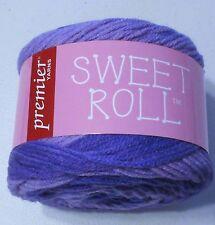 Premier Sweet Roll self striping yarn Grape Swirl acrylic yarn