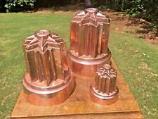 * RARE *  Set of Three Copper Brunswick Star Benham & Froud English Jelly Molds