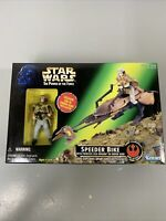 Star Wars Power of the Force Speeder Bike with Pricess Leia in Endor Gear 1997