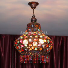 Loft Retro Bohemia Crystal Ceiling Light Lantern Bedroom Pendant Lamp Chandelier
