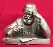Soviet Metal Bust statue KARL MARX Sc.Mogilevsky Sculpture Russian USSR German
