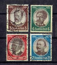 Deutsches Reich o  MiNr 540 - 543 Kolonialforscher Wissmann Peters Lüderitz ua