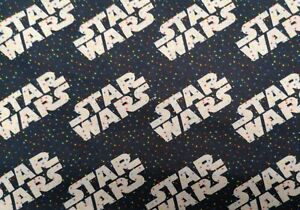 Fat Quarter STAR WARS LOGO Fabric Material COTTON Crafts Quilting Sewing