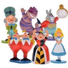 MINI Alice in Wonderland Playset 6 Figure Cake Topper * USA SELLER* Toy Doll Set