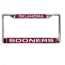 Oklahoma Sooners Laser Cut Chrome Metal License Plate Frame