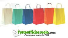 BUSTE SHOPPERS TORCIGLIONE ROSSO cm 26x12x36 - Conf. 25 pz