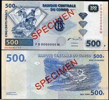 CONGO 500 FRANCS 2002 P 96 SPECIMEN PD-M UNC