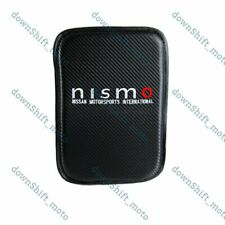 For JDM NISMO Carbon Car Center Console Armrest Cushion Mat Pad Cover Embroidery