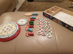 Wooden food bundle  ....melissa & Doug hook and loop cake with toppings/candles