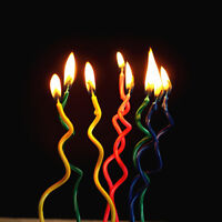 10Pcs Carving Cake Candle Birthday/Wedding Party Cake Topper Candles Decor