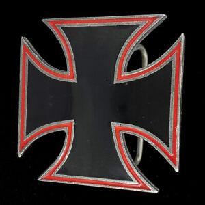 Iron Maltese Cross Biker Motorcycle Goth Gothic Rock Roll Punk 2005 Belt Buckle