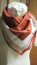 Brown With White & Dots - Vintage Scarf - Japan - Perfect For Fall