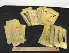 """Vintage Adjustable 4"""" Brass Stencils Lockedge w/ Letters Numbers & Others Reese"""