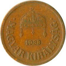 Reino de Hungría, relleno de 2, 1938 #WT4882