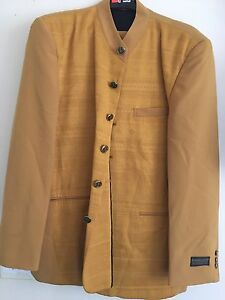 Pontelli Uomo Collection By Supreme Mustard Colored Men's Suit- Size 40R; 33/34