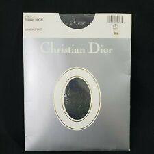 Christian Dior Navy Blue Thigh High Sandalfoot Hose Size 2  Fits Size 6-7.5 New