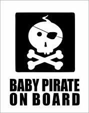 Baby Pirate on Board Car Truck Van Bumper Window Vinyl Decal Sticker LOL Cute