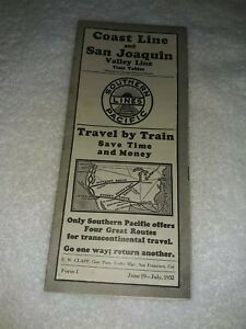 Southern Pacific Lines Railroad Timetable (1932)