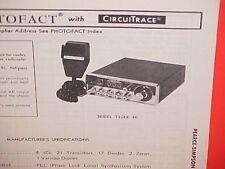 1978 PEARCE-SIMPSON CB RADIO SERVICE SHOP MANUAL MODEL TIGER 40