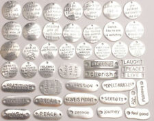 45PCS/Lots Mixed Lots Metal Inspirational Word Charms Connectors Link