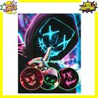 Scary Led Halloween Mask Cosplay Light Up For Men Women Kids Comfortable New