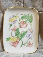 Vintage Porcelain Tray Fine China Floral Plate by Ben Rickert Inc. Made In Japan