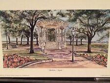 """Charleston's Gazebo"" water color print Marilyn Morris Wedding/Birthday gift"