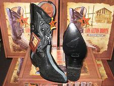 LOS ALTOS R-TOE BLACK STINGRAY ROWSTONE WESTERN COWBOY BOOT D WIDTH 601105