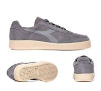 Mens Diadora Borg Elite Suede Grey Trainers RRP £74.99 (.D2)