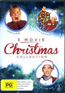 Home Alone / Deck The Halls / Jingle All The Way (DVD, 3 Disc Set) - Region 4