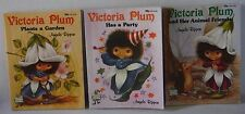 Victoria Plum Garden, Party and Animal friends x 3 books Angela Rippon 1982 cute