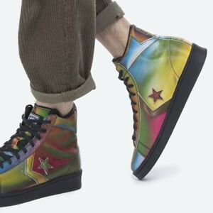 New CONVERSE Pro Leather Athletic Sneaker Hi Top shoes Mens iridescent all size