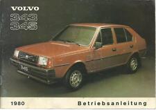 VOLVO 343 345 Betriebsanleitung 1980 Bedienungsanleitung Handbuch Bordbuch BA