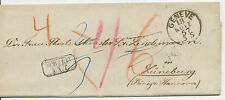 SCHWEIZ / HANNOVER 1857 Bf an Frau Staats-Minister Dr. Lindemann @ANSCHAUEN@