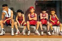 SLAM DUNK Shohoku Teams Basketball player PVC Figure Model Toy W Stand