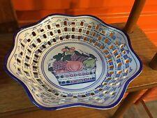 Vintage German Porcelain Reticulated Fruit Bowl