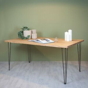Dining Table / Bench Industrial Wood Planed [Optional Hairpin Legs]