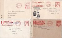 # 1938/44 4 LONDON METER MARK COVERS ADVERTISING 2 CENSORED 1 CATHOLIC NEWSPAPER