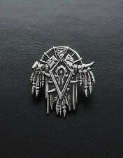 The Horde pin inspired by World of Warcraft game made from white bronze