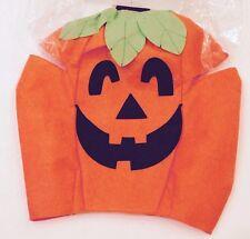 NWT Boys Girls Orange Felt Pumpkin Jack-o-Lantern Tunic Costume Child Kids Size