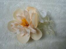 Pince clip barette cheveux broche compositions florale fleurs couleur pêche