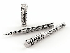 S.T. Dupont White Knight Large Fountain Pen, Premium Edition # 141030 New In Box