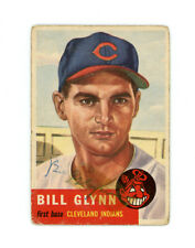 BILL GLYNN signed 1953 TOPPS baseball card #171 CLEVELAND INDIANS Rookie