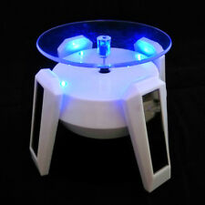 4 LED 360° Rotating Turntable Jewelry Display Stand Solar Power Phone Holder