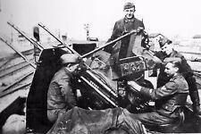 """WW2 -  Canon quadruple de 2 cm de DCA """"Vierlingsflak"""" -  Division Hohenstaufen"""