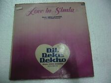 DIL DEKE DEKHO/LOVE IN SIMLA USHA KHANNA 1985  RARE LP RECORD BOLLYWOOD VG+