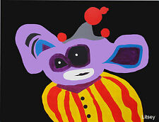 Purple Clown IT. by International Artist Brent Litsey London, Paris, New York