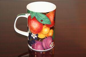 Dunoon Fine Bone China Cup Mug Somerton Fruit Gold Caroline Bessey England