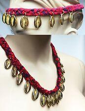 $225 TORY BURCH Puka Shell Woven Charm Short Necklace Pendants Women Lady Gift