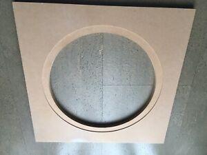 Grundplatte für Spinne Windart Löwen Dart MDF Platte 12mm 48x48cm mit Bohrung
